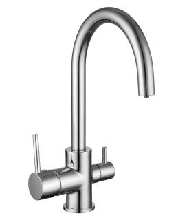 Смеситель на две воды для кухни Daicy, хром, Imprese 55009-U